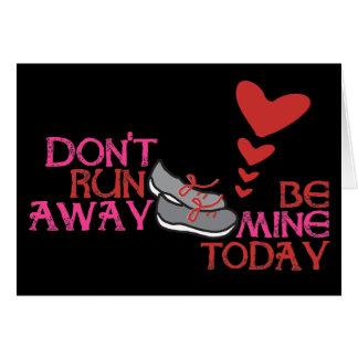 Cartão Namorados Running - dia dos namorados do corredor