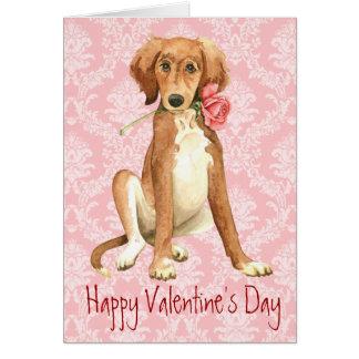 Cartão Namorados Saluki cor-de-rosa