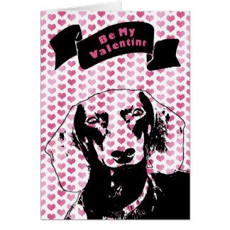Cartão Namorados - silhueta do Dachshund - Winston