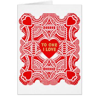 Cartão Namorados vermelhos do laço