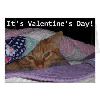Cartão Namorados vindos do gato do Snuggle
