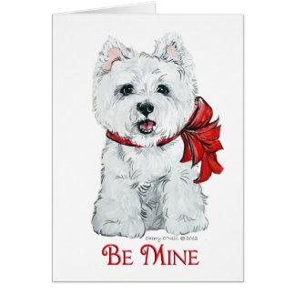 Cartão Namorados Westie - seja mina