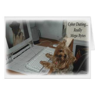 Cartão Namorando do Cyber de Yorkie