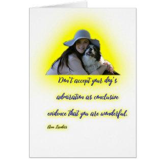 Cartão Não aceite a admiração do seu cão