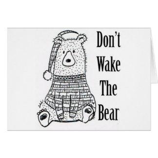 Cartão Não acorde o urso