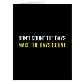 Cartão Não conte as citações dos dias