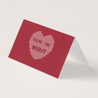 cartão não convencional dos namorados você é o