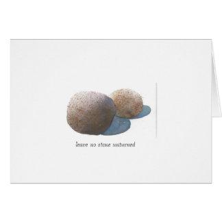 Cartão Não deixe nenhuma pedra unturned