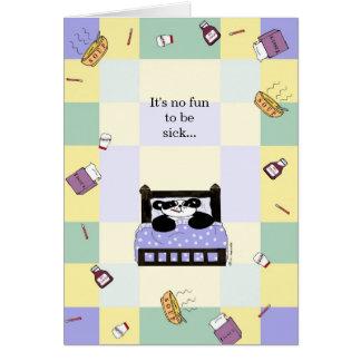 Cartão Não é nenhum divertimento que é doente - obtenha
