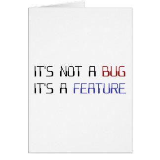 Cartão Não é um inseto que da codificação é uma