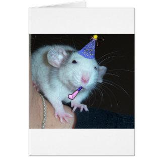 Cartão Não é um partido até um rato aparece!