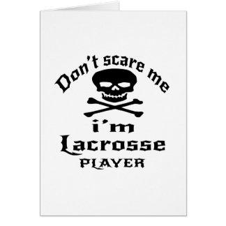 Cartão Não faz o susto mim que eu sou jogador do Lacrosse