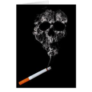 Cartão não fumadores do cigarro e do crânio