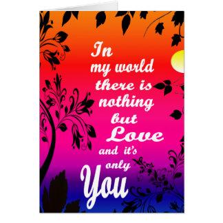 Cartão Não há nada mas um amor