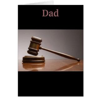 Cartão Não há nenhum debate, meu pai está grande!