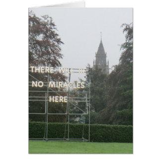 Cartão Não haverá nenhuma arte de Edimburgo dos milagre