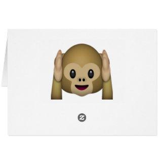 Cartão Não ouça nenhum macaco mau - Emoji