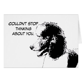 Cartão Não podia parar de pensar sobre você