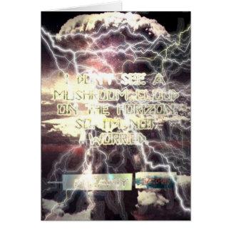 Cartão não preocupado da bomba atómica