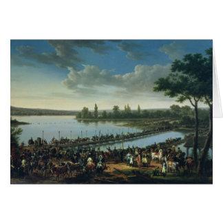 Cartão Napoleon antes da batalha de Wagram