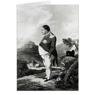 Cartão Napoleon na ilha de St Helena, 1820