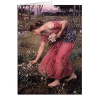 Cartão Narciso do waterhouse de John William