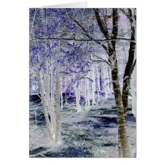 Cartão Nas madeiras…
