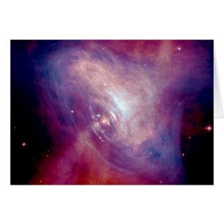 Cartão NASA da nebulosa de caranguejo de Chandra