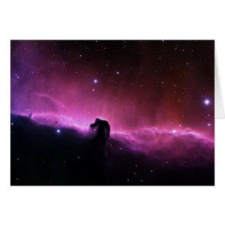Cartão NASA de Barnard 33 da nebulosa de Horsehead