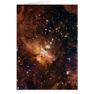 Cartão NASA marrom das estrelas de Pismis 24