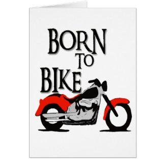 Cartão Nascer à bicicleta