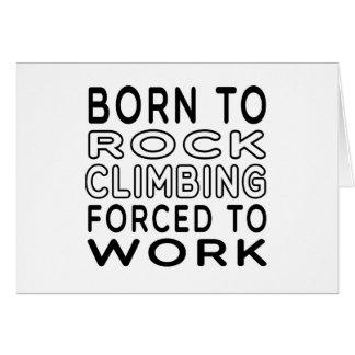 Cartão Nascer à escalada forçada para trabalhar