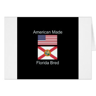 """Cartão """"Nascer americano. Florida produziu"""" bandeiras e"""