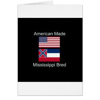 """Cartão """"Nascer americano. Mississippi produziu da"""" o"""