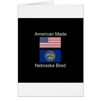 """Cartão """"Nascer americano. Nebraska produziu da"""" o design"""