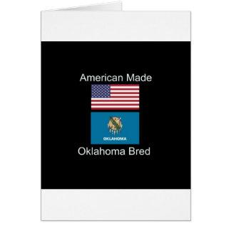 """Cartão """"Nascer americano. Oklahoma produziu da"""" o design"""