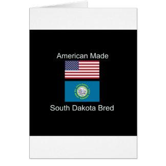 """Cartão """"Nascer americano. South Dakota produziu da"""" o"""