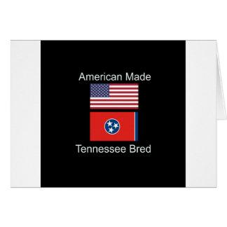 """Cartão """"Nascer americano. Tennessee produziu da"""" o design"""