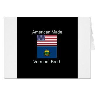 """Cartão """"Nascer americano. Vermont produziu"""" bandeiras e"""