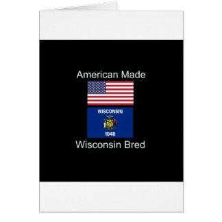 """Cartão """"Nascer americano. Wisconsin produziu da"""" o design"""