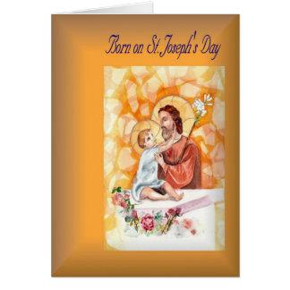 Cartão Nascer do aniversário do feriado no dia de St