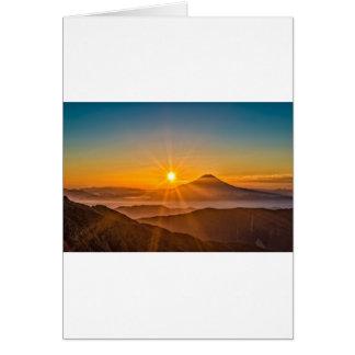 Cartão Nascer do sol