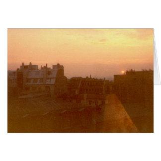 """Cartão """"Nascer do sol, avenida Marceau, Paris """""""