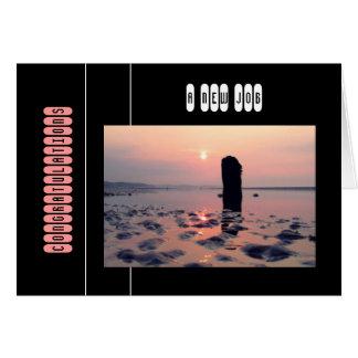 Cartão Nascer do sol bonito da praia (parabéns)