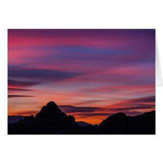 Cartão Nascer do sol da estrada do filme