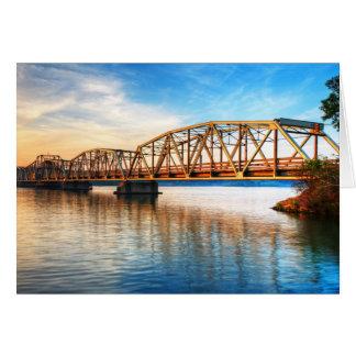 Cartão Nascer do sol da ponte de pedágio