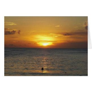 Cartão Nascer do sol das caraíbas