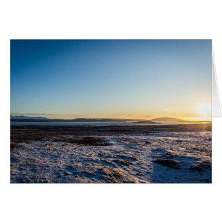 Cartão Nascer do sol de Islândia