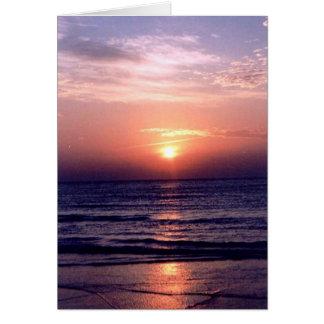 Cartão Nascer do sol do golfo