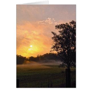 Cartão Nascer do sol em Emerson, GA